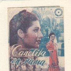 Cine: CANELITA EN RAMA. PROGRAMA DOBLE CON PUBLICIDAD ( DEFECTUOSO ).. Lote 148088186