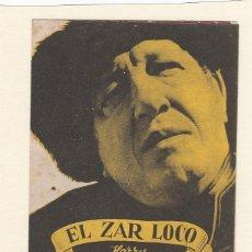 Cine: EL ZAR LOCO. PROGRAMA DOBLE CON PUBLICIDAD ( DEFECTUOSO ).. Lote 148088758