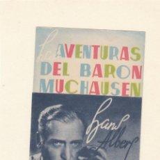 Cine: LAS AVENTURAS DEL BARÓN MUCHAUSEN. PROGRAMA DOBLE SIN PUBLICIDAD.. Lote 148091206