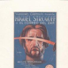 Cine: MIGUEL STROGOFF O EL CORREO DEL ZAR. PROGRAMA DE CINE DOBLE CON PUBLICIDAD.. Lote 148091682