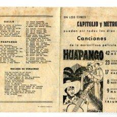 Cine: HUAPANGO, CON ENRIQUE HERRERA. CANCIONERO.. Lote 148106122