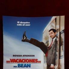 Cine: FOLLETO DE LAS VACACIONES DE MR.BEAN.. Lote 148142765