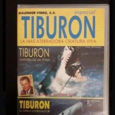 Flyers Publicitaires de films Anciens: TIBURÓN - LA MAS ATERRADORA CRIATURA VIVA VHS. Lote 148145154