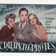 Cine: EL DIFUNTO PROTESTA. AÑO 1944. ROBERT MONTGOMERY, EVELYN KEYES, EDU EVERTT Y RITA JOHNSON.. Lote 148154046