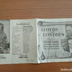 Cine: LLOYDS DE LONDRES. Lote 148156078