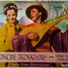 Cine: EL PRINCIPE TROVADOR. Lote 148195962