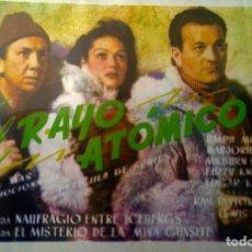 Cine: EL RAYO ATOMICO- 1º Y 2º JORNADA-. Lote 148199674