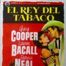 Cine: EL REY DEL TABACO. Lote 148205406