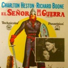 Cine: EL SEÑOR DE LA GUERRA- IMPECABLE. Lote 148209962