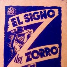 Cine: EL SIGNO DEL ZORRO- PROGRAMA LOCAL DEL CINE KURSAAL DE BARCELONA. Lote 148210942