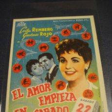 Cine: EL AMOR EMPIEZA EL SABADO - SIN PUBLICIDAD. Lote 148227902