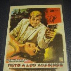 Cine: RETO A LOS ASESINOS - SIN PUBLICIDAD. Lote 148228654