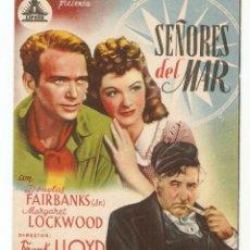 Cine: SEÑORES DEL MAR - DOUGLAS FAIRBANKS (JR), MARGARET LOCKWOOD - DIRECTOR FRANK LLOYD - CIFESA . Lote 148289070