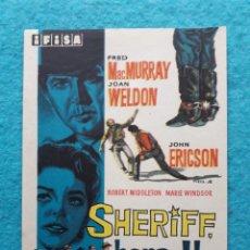 Cine: SHERIFF, HORA H. FRED MACMURRAY, JOAN WELDON, JOHN ERICSON.. Lote 148294738