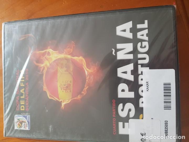 DVD DEL CUARTO PARTIDO ESPAÑA VERSUS PORTUGAL SUDÁFRICA 2010 PRECINTADO (Cine - Folletos de Mano - Deportes)