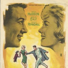Cine: FILM PIJAMA PARA DOS. ROCK HUDSON, DORIS DAY Y TONY RANDALL. 1962. BUEN ESTADO. FOLLETO DE CINE.. Lote 148540402