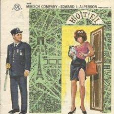 Cine: FILM IRMA LA DULCE. JACK LEMMON Y SHIRLEY MACLAINE. BILLY WILDER. 1970. CINEMA TEXAS. BARCELONA.. Lote 148540718