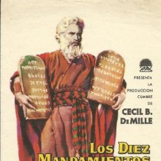 Cine: FILM LOS DIEZ MANDAMIENTOS. CHARLTON HESTON, YUL BRYNNER. CECIL B. DE MILLE. CINE ROXY BARCELONA.. Lote 148541042