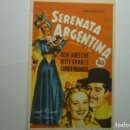 Cine: PROGRAMA SERENATA ARGENTINA - BETTY GRABLE- PUBLICIDAD . Lote 148682938