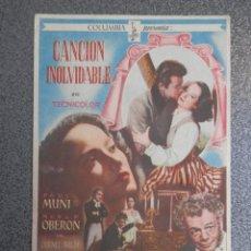 Cine: PROGRAMA CINE PUBLICIDAD: CANCIÓN INOLVIDABLE. Lote 148713793