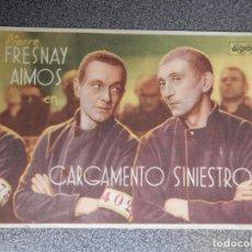 Cine: PROGRAMA CINE PUBLICIDAD: CARGAMENTO SINIESTRO. Lote 148713937