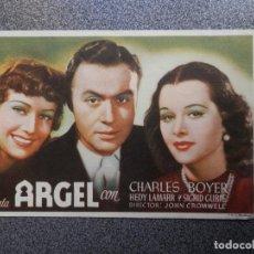 Cine: PROGRAMA CINE PUBLICIDAD: ARGEL. Lote 148714253