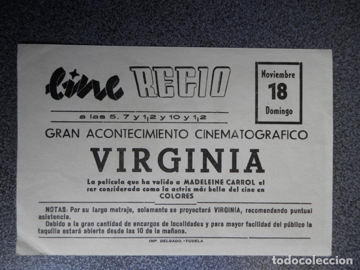 Cine: PROGRAMA CINE PUBLICIDAD: VIRGINIA - Foto 2 - 148714401