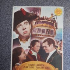 Foglietti di film di film antichi di cinema: PROGRAMA CINE PUBLICIDAD: LA TRAGEDIA DE LA BOUNTY. Lote 148714417