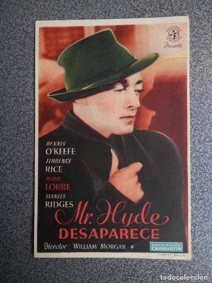 PROGRAMA CINE PUBLICIDAD: MR HYDE DESAPARECE (Cine - Folletos de Mano - Deportes)