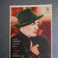 Foglietti di film di film antichi di cinema: PROGRAMA CINE PUBLICIDAD: MR HYDE DESAPARECE. Lote 148714425