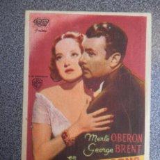 Folhetos de mão de filmes antigos de cinema: PROGRAMA CINE PUBLICIDAD: VIAJE SIN RETORNO. Lote 148714429