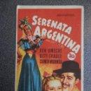 Cine: PROGRAMA CINE PUBLICIDAD: SERENATA ARGENTINA. Lote 148714541