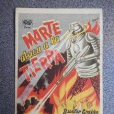 Foglietti di film di film antichi di cinema: PROGRAMA CINE PUBLICIDAD: MARTE ATACA A LA TIERRA. Lote 148714545