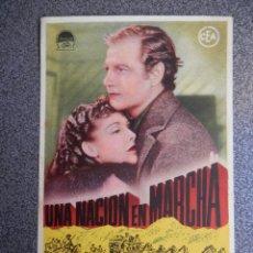 Folhetos de mão de filmes antigos de cinema: PROGRAMA CINE PUBLICIDAD: UNA NACIÓN EN MARCHA. Lote 148714549