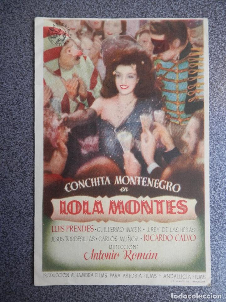 PROGRAMA CINE PUBLICIDAD: LOLA MONTES (Cine - Folletos de Mano - Documentales)