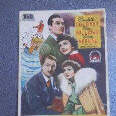 Folhetos de mão de filmes antigos de cinema: PROGRAMA CINE PUBLICIDAD: ALONDRA DEL CIELO. Lote 148714577
