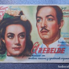 Folhetos de mão de filmes antigos de cinema: PROGRAMA CINE PUBLICIDAD: EL REBELDE. Lote 148714701
