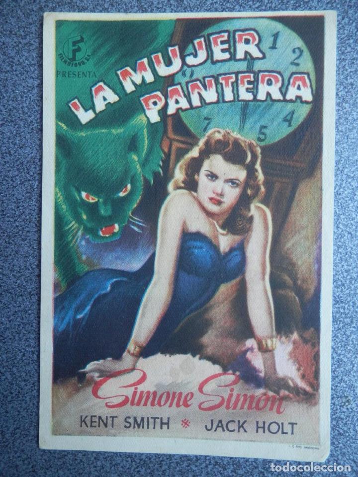 PROGRAMA CINE PUBLICIDAD: LA MUJER PANTERA (Cine - Folletos de Mano - Infantil)