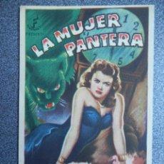 Cine: PROGRAMA CINE PUBLICIDAD: LA MUJER PANTERA. Lote 148715033