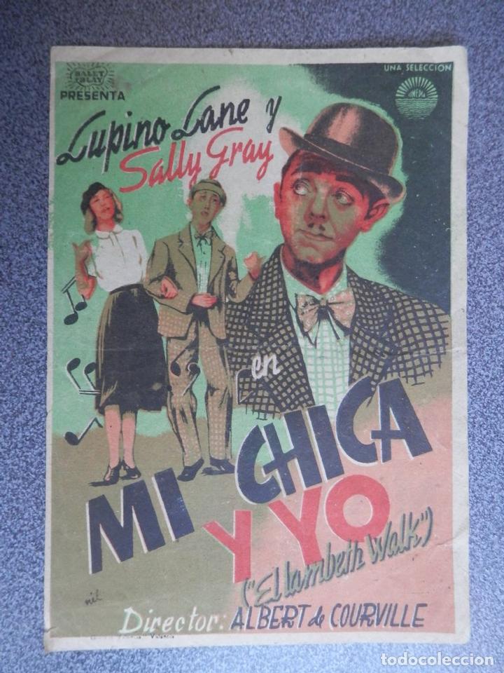 PROGRAMA CINE PUBLICIDAD: MI CHICA Y YO (Cine - Folletos de Mano - Infantil)