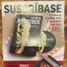 Cine: ALFRED HITCHCOCK- SUSCRIPCIÓN DVD+ LIBRO COLECCIONABLES. Lote 148844286