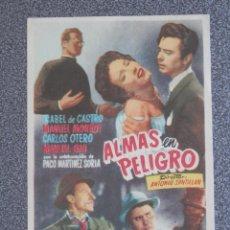 Cine: PROGRAMA DE CINE: ALMAS EN PELIGRO. Lote 148867085