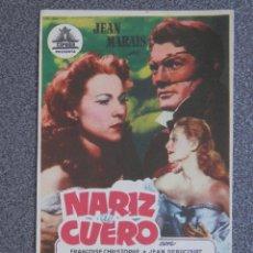 Cine: PROGRAMA DE CINE: NARIZ DE CUERO. Lote 148867286