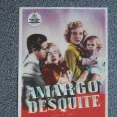 Cine: PROGRAMA DE CINE: AMARGO DESQUITE. Lote 148867290