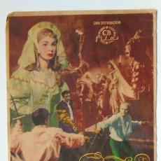 Cine: CINE AVENIDA ALICANTE PROGRAMA MANO HAMLET 1950 TAMAÑO GRANDE 11,5X15,5 CM. LAURENCE OLIVER. Lote 148923842