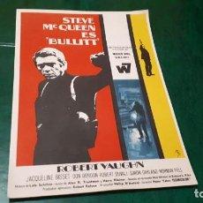 Cine: PROGRAMA DE MANO ORIG - BULLITT - SIN CINE . Lote 148976602