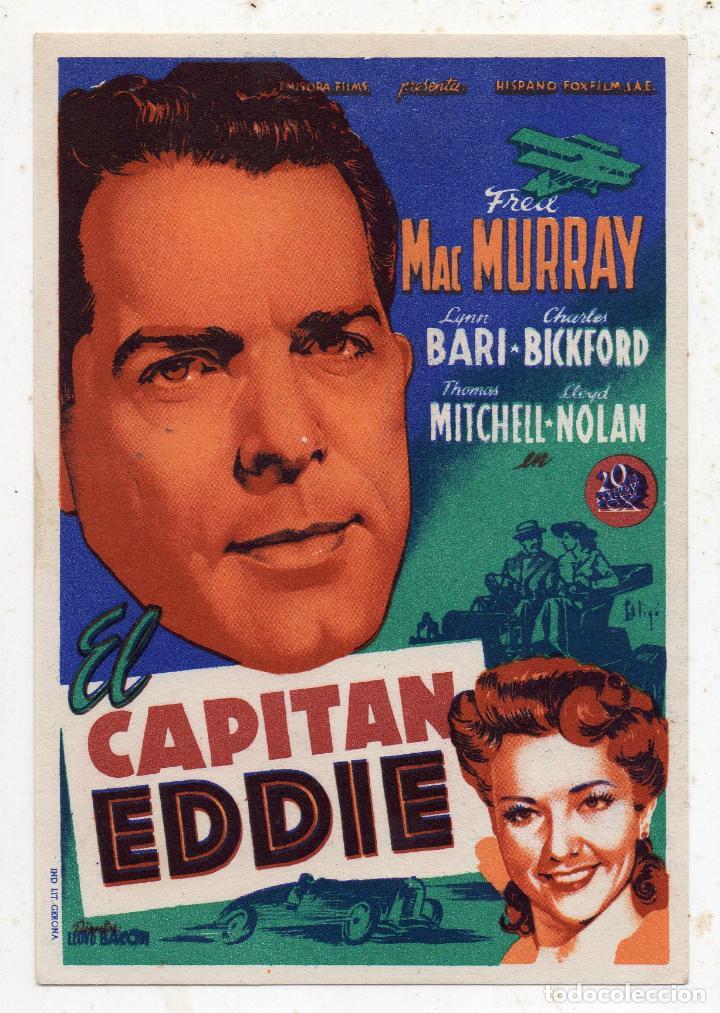 EL CAPITÁN EDDIE. FRED MC MURRAY, LYNN BARI, LLOYD NOLAN... (Cine - Folletos de Mano - Acción)