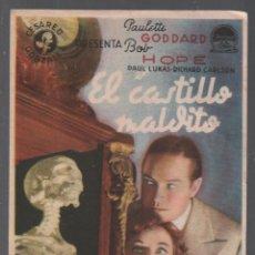 Cine: EL CASTILLO MALDITO - PROGRAMA SENCILLO DE CHAMARTIN SIN PUBLICIDAD RF-2110 , BUEN ESTADO. Lote 149282314