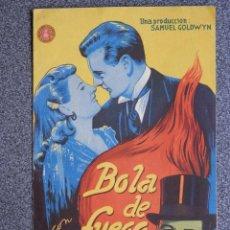 Cine: PROGRAMA CINE DOBLE: BOLA DE FUEGO, GARY COOPER Y BÁRBARA STANWYCK. Lote 149338841