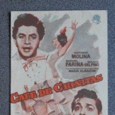 Flyers Publicitaires de films Anciens: PROGRAMA CINE DOBLE: CAFÉ DE CHINITAS, ANTONIO MOLINA, RAFAEL FARINA. Lote 149338853